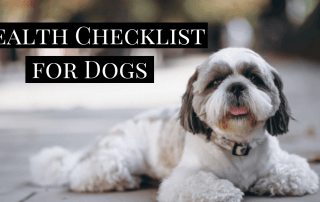 Health Checklist for Dogs